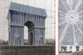 L'Arc de Triomphe, Wrapped _ Exhibition at Centre Pompidou – The Arc de Triumph, Wrapped, Project for Paris, Place de l'Etoile, Charles de Gaulle